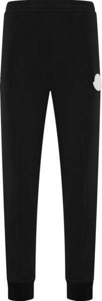 Moncler Black And White Logo Joggers F20918h71500v8174