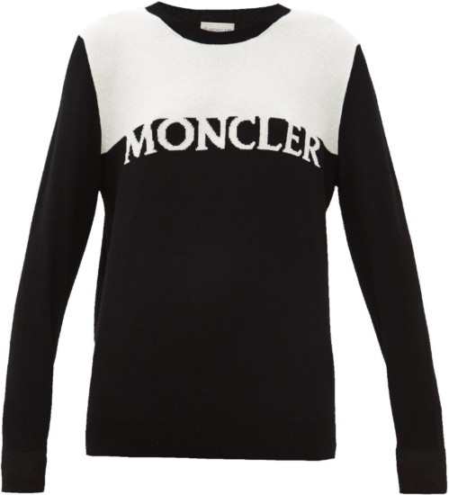 Moncler Black And White Sweater