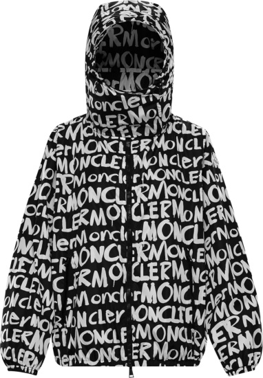 Moncler Black Graffiti Hanoi Windbreaker Jacket