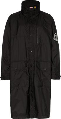 Moncler Black Greg Trench Coat