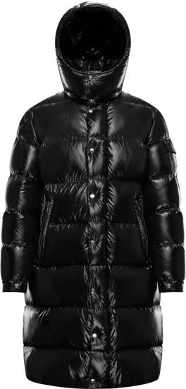 Moncler Black Hanoverian Long Puffer Jacket