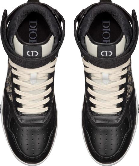 Moncler Black High Top Oblique Panel B27 Sneakers