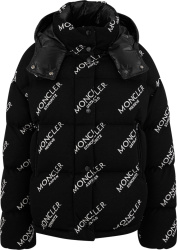 Moncler Black Knit Caille Puffer Jacket