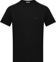 Moncler Black Logo Patch T Shirt