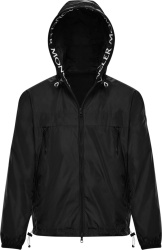 Moncler Black Massereau Windbreaker Jacket