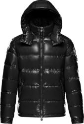 Black 'Maya' Puffer Jacket