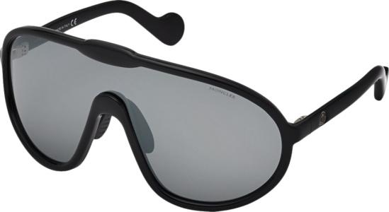 Moncler Black Shield Mask Sunglasses