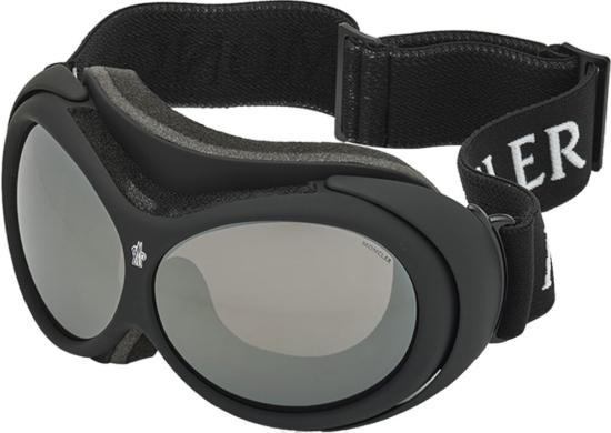 Moncler Black Ski Goggles