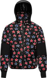 Moncler Black Star Print Gollinger Puffer Jacket