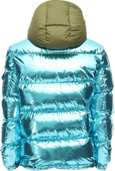 Moncler Genius Metallic Blue Puffer Jacket