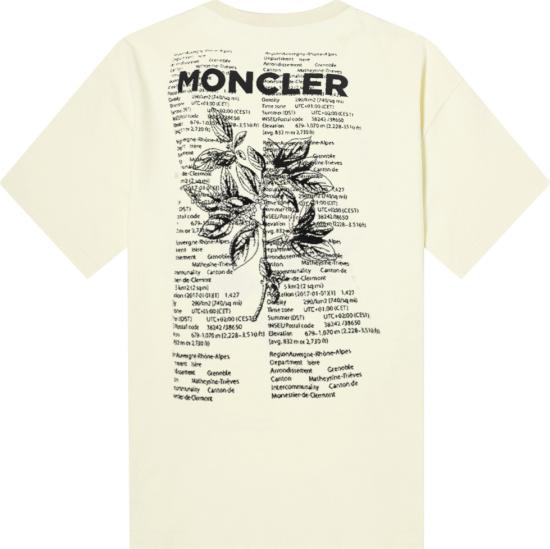 Moncler Genius Off White Floral Print Logo Tee