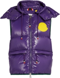 Purple 'Lorent' Puffer Vest