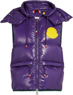Moncler Genius Purple Lorent Puffer Vest