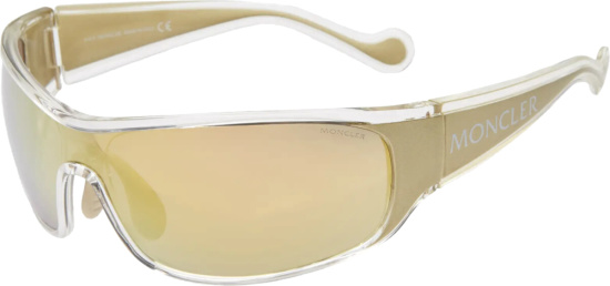 Moncler Gold Tone Wrap Sunglasses