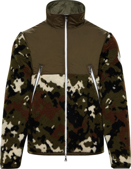 Moncler Green Camouflage Fleece Jacket