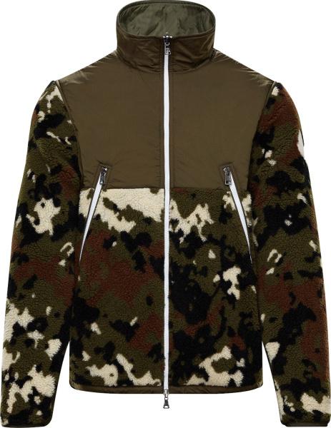 Moncler Green Camouflage Fleece Jacket