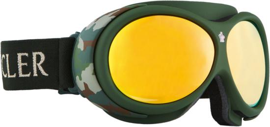 Moncler Green Ski Goggles