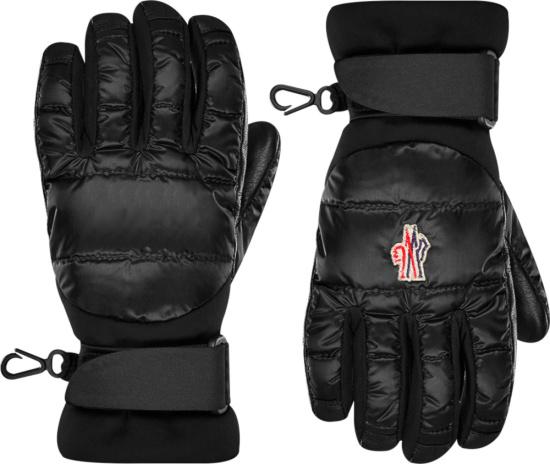 Moncler Grenoble Black Puffer Gloves 0983a5000053071999