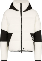 Moncler Grenoble White Fleece Hooded Jacket