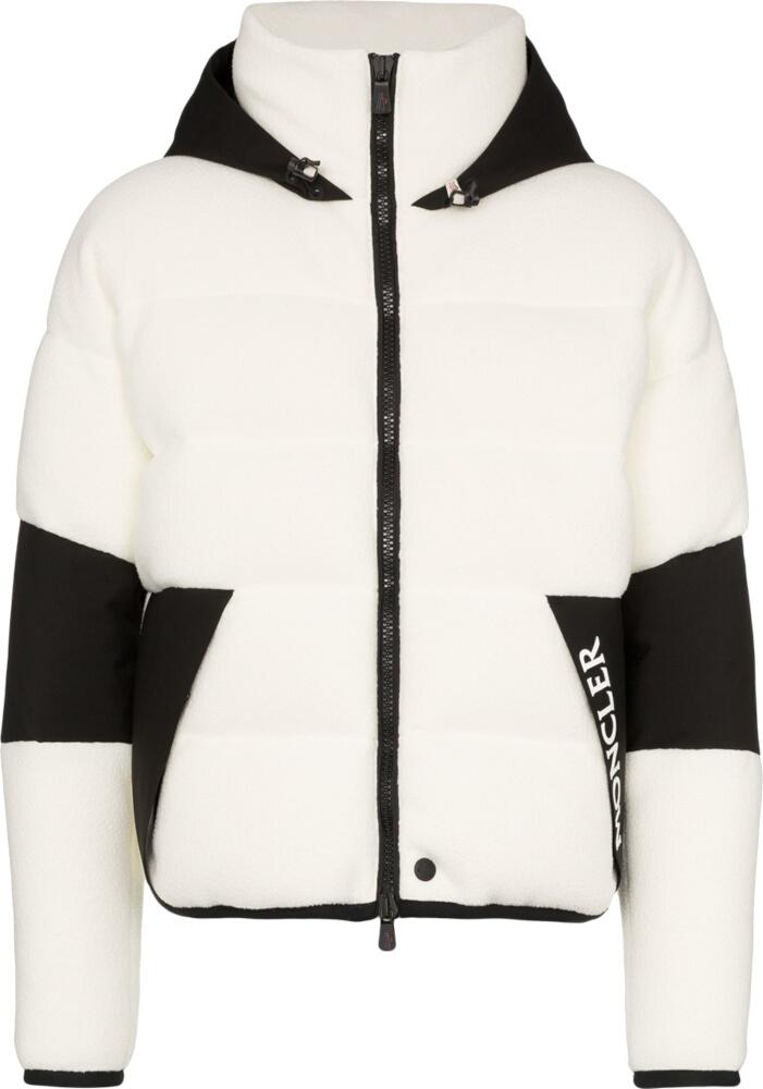 White Fleece Puffer Jacket