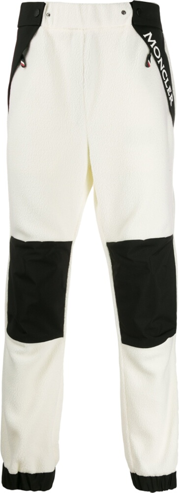 Moncler Grenoble White Fleece Pants