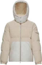 Moncler Ivory Baikal Corduroy Puffer Jacket