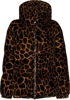 Moncler Leopard Print Kundogi Puffer Jacket