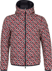 Navy & Red Allover 'Zois' Padded Jacket