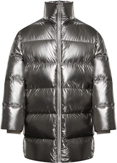 Moncler Metallic Silver Cyclopic Puffer Jacket