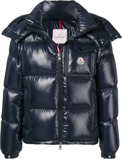 Moncler Navy Montebeliard Puffer Jacket