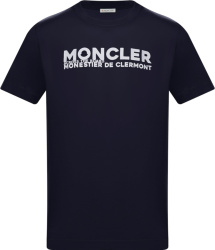 Moncler Navy Across The Board T Shirt