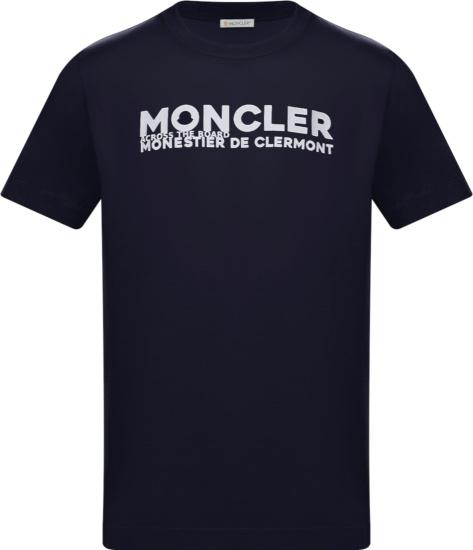 Moncler Navy Across The Board T Shirt