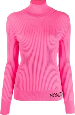 Moncler Neon Pink Rollneck Sweater