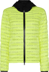 Moncler Neon Yellow Dun Down Jacket