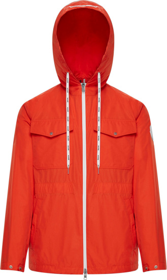 Moncler Orange Carion Windbreaker Jacket