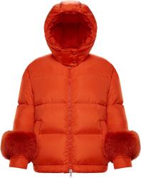 Moncler Orange Effraie Puffer Jacket