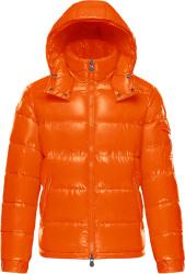 Moncler Orange Maya Puffer Jacket