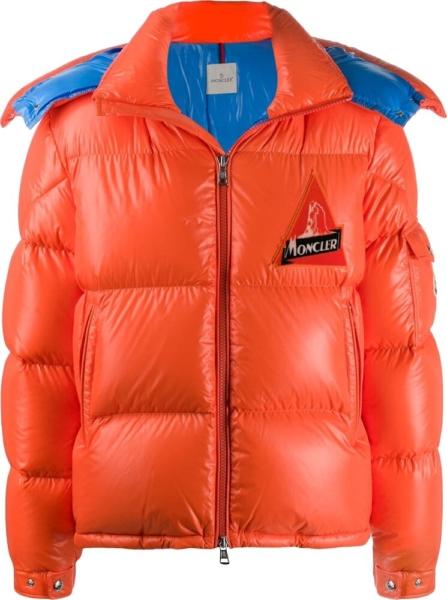 Moncler Orange Puffer Jacket