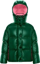 Green & Pink 'Parana' Puffer Jacket
