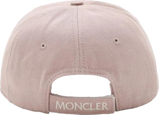 Moncler Pink Logo Patch Hat
