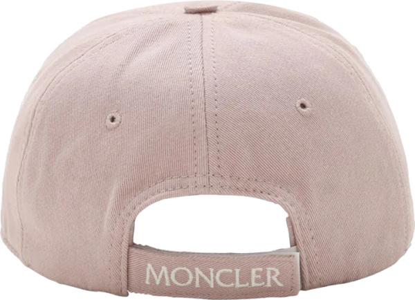 Moncler Pink Logo Patch Hat