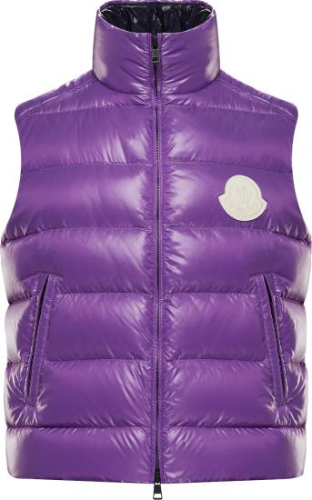 Moncler Purple Park Puffer Vest Cod6630340695939650