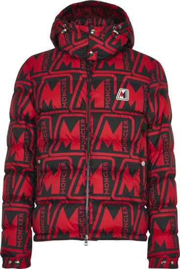 Moncler Red Black Frioland Puffer Jacket