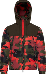 Moncler Red Camouflage Eymeric Puffer Jacket