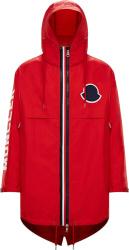 Moncler Red Granduc Hooded Long Jacket