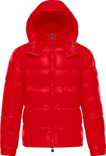 Moncler Red Maya Puffer Jacket