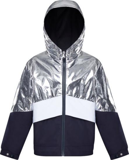 Moncler Silver Navy Quinic Jacket