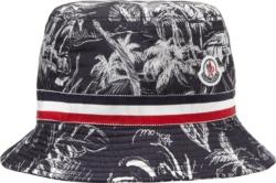 Moncler Sketch Print Blue Bucket Hat