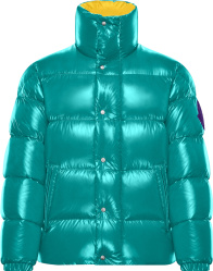 Moncler Turquoise Dervaux Puffer Jacket