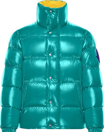 Moncler Turquoise Dervaux Puffer Jacket